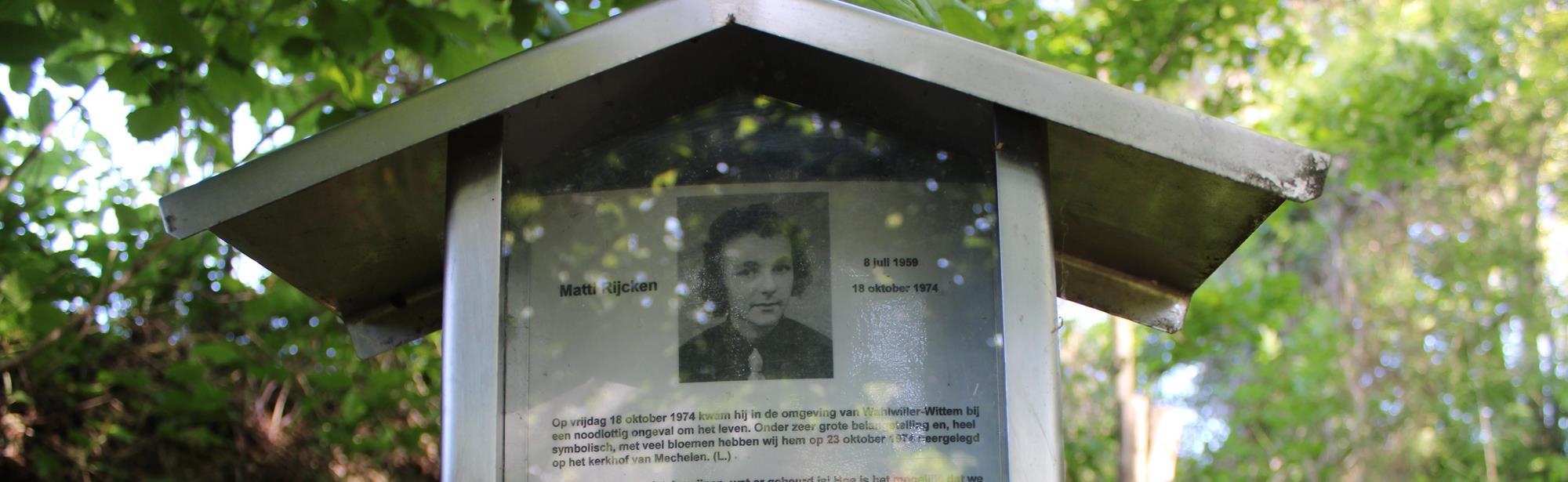 Monument Matty Rijcken