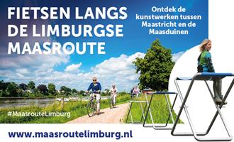 Fietsen langs de Limburgse Maasroute